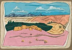Whitney Museum of American Art: Stuart Davis: New Mexican Landscape, 1923