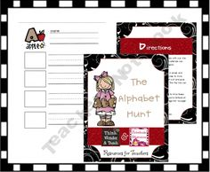 The Alphabet Hunt product from Think-Wonder-Teach on TeachersNotebook.com