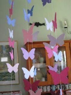 Diy butterfly decoration