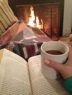 The perfect reading spot for a cold winter's day.