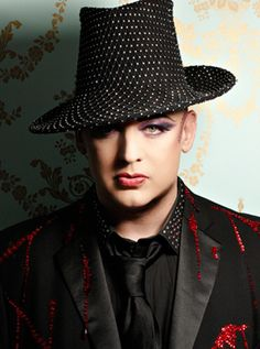 Boy George - love his singing and his beautiful face.
