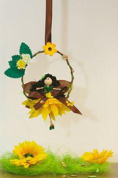 Sunflower Fairy doll Flower Fairy Doll Ornaments by tfairytale