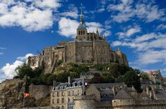Mont Saint-Michel, France Harry Potter fans and medieval buffs will surely appreciate the castlelike Norman Benedictine Abbey of St. Medieval Town, Medieval Castle, Medieval Times, Le Mont St Michel, Visit France, Cultural Experience, Just Dream, Back Road, Travel Memories