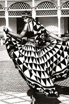 """Morocco Bound"", Vogue UK 1973 #tribalgeometrics"