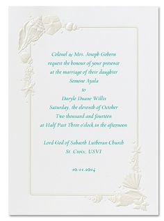 Sea Treasures Wedding Invitation - Beach Wedding Invitations