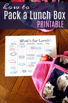 Does packing your child's lunch box cause you stress? It never will again when you let them become part of the process with this How to Pack a Lunch Box Printable. #kidslunch #lunchbox #lunchideas