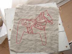 Redwork on Linen by Redwork in Germany, via Flickr