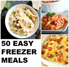Make these 50 EASY FREEZER MEAL RECIPES ahead of time and pull them out on a busy night for a delicious home-cooked meal. Slow Cooker Beans, Slow Cooker Italian Beef, Slow Cooker Chili, Make Ahead Freezer Meals, Freezer Cooking, Easy Meals, Fast Dinners, Cooking Tips, Healthy Menu Plan