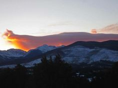 The sky is ablaze above these beautiful New Mexican mountains!