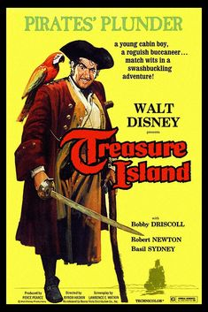 Old Movies, Vintage Movies, Vintage Books, John Laurie, James Macarthur, Bobby Driscoll, Robert Newton, Buddy Ebsen, Disney Names