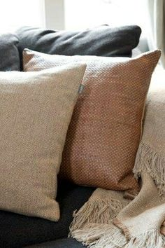 Great texture in these simple pillows that can go with any decor.