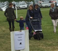 Catherine, Duchess of Cambridge, Prince George and Princess Charlotte at the Houghton Hall