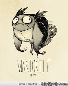 Tim Burton Pokemon - WarTortle