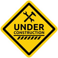 Under Construction Warning Sign PNG Clipart
