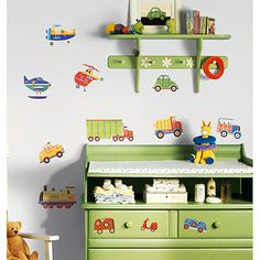 ** Wall Decals! RoomMates - Transportation Peel & Stick Wall Decals