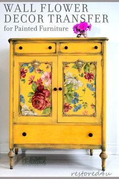 NEW RELEASE! IOD TRANSFERS FALL 2019 See the latest in furniture makeover ideas with Iron Orchid Designs 2019 Decor Transfer release. See all 8 new IOD transfers as well as get ideas and inspiration for your next desk or dresser makeover project. Funky Painted Furniture, Decoupage Furniture, Paint Furniture, Shabby Chic Furniture, Furniture Design, Painted Dressers, Decoupage Dresser, Basement Furniture, Colorful Furniture