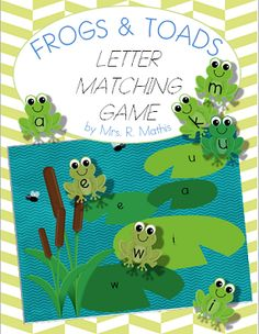 Frogs and Toads Letter Matching Game Letter Matching Game, Letter Games, Matching Games, Alphabet Games, Teaching Letters, Student Teaching, Teaching Resources, Teaching Ideas, Reptile Crafts