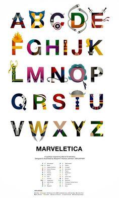marveltica - Marvel alphabet