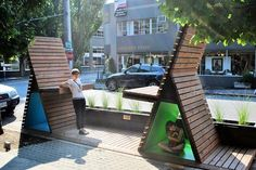 Quirky street seats in Portland, OR. Click image to tweet or learn more, and visit the slowottawa.ca boards >> http://www.pinterest.com/slowottawa/