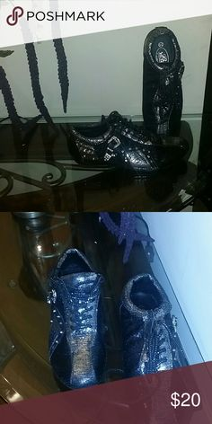 Dazzled Sneakers Sequin,crystal black and silver sneakers bolardo Shoes Sneakers