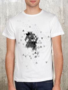 Triangle Explosion Men's Abstract Graphic by CrawlSpaceStudios, $22.50