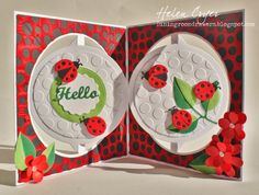 Elizabeth Craft Designs Ladybug Accordion Circle Card