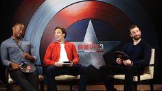 Anthony Mackie, Sebastian Stan, and Chris Evans at the #CaptainAmericaCivilWar Press Junket in Beijing #TeamCap pic.twitter.com/dL5zspNFZt