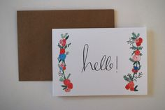 Hey, I found this really awesome Etsy listing at https://www.etsy.com/se-en/listing/257480192/hello-floral-card