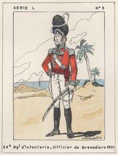 British; 24th Regiment of Foot, Grenadier Officer, Egypt, 1801
