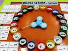 Lectoescritura Meet this post the Spinner Syllable Roulette: Game for literacy, a proposal that is also part of a syllabic bingo. you can find similar. Literacy Games, Phonics Activities, Speech Therapy Activities, Learning Activities, Kids Learning, Activities For Kids, Crafts For Kids, Education English, Kids Education