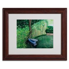 Two Boats Matted Framed Painting Print
