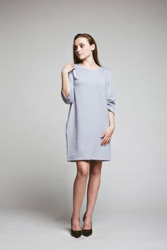 sukienki-Sukienka Mrs. Grey Dress oversized  casual black tunic