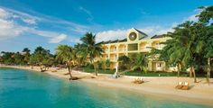 Sandals Negril in Jamaica.  This is where my husband and I spent our honeymoon in February of 2011.  It was amazing! I kind of want to start saving for another trip. It's not cheap, but it's worth every penny and then some!