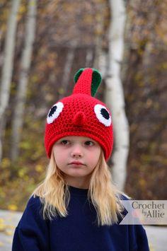 Red Pikmin Hat plus red skin suit equals Halloween costume? Crochet Kids Hats, Cute Crochet, Knit Crochet, Crochet Designs, Crochet Patterns, Alex Craft, Ear Warmers, Girl With Hat, Geek Stuff