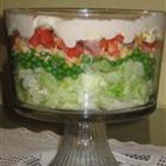 seven layer salad recipe - christmas dinner