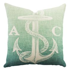 Personalized Anchor Pillow » Love the coloring. #personalizedgifts