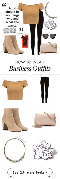 """""""Styling At Work!"""" by qwertyuiop-sparta on Polyvore featuring River Island, Sorrelli, Alice + Olivia, Yves Saint Laurent, LC Lauren Conrad, PINTRILL, Charlotte Russe and Prada"""