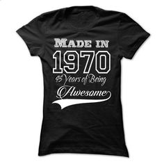Born In 1971 - 44 Year Of Being Awesome  - #sweatshirts #chunky sweater. BUY NOW => https://www.sunfrog.com/Birth-Years/Born-In-1971--44-Year-Of-Being-Awesome--Black-13776920-Ladies.html?68278