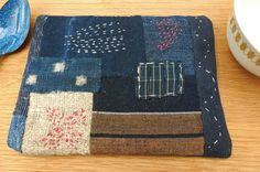Boro style coaster with Japanese vintage fabrics