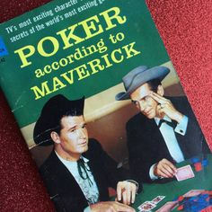 Poker According To Maverick ~ Vintage Paperback Book by kitschbitchvintage on Etsy