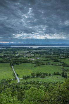 Storm clouds from Mount Philo. Charlotte, Vermont, 1 of the most beautiful sites as a child