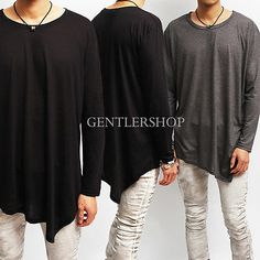 Avant-garde Mens Fashion Unbalanced Oblique T-shirt, GENTLERSHOP