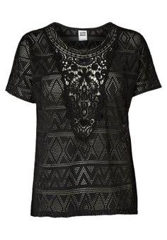 CROCHET - T-shirt basique - black