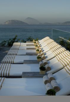 By the pool at Hotel Fasano, Rio de Janeiro, Brazil. Rock In Rio 2015, Rock Rio, Philippe Starck, Hotel Fasano Rio, Brazil Travel, Great Hotel, Largest Countries, Suites, Science And Nature