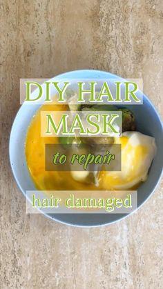 Hair Mask For Damaged Hair, Best Hair Mask, Hair Mask For Growth, Natural Hair Mask, Products For Damaged Hair, Dry Hair, Homemade Hair Treatments, Diy Hair Treatment, Damaged Hair Treatment