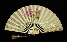 Fan Made Of Wood, Silk, Paint, Mother-Of-Pearl And Metal - French   c.1885-1895   -   The Metropolitan Museum of Art