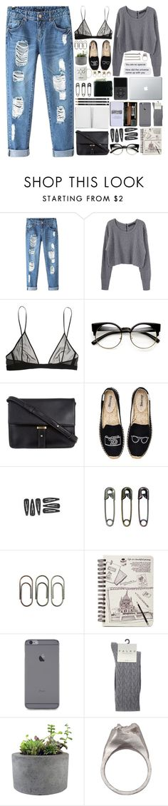 """""""Gotta let my mind find another space"""" by annaclaraalvez ❤ liked on Polyvore featuring Chicnova Fashion, Proenza Schouler, Yves Saint Laurent, Paperchase, ZeroUV, ZALORA, Soludos, Tim Holtz, Clips and Falke"""