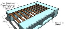 Build a Full Storage (Captains) Bed Full Size Storage Bed, Diy Storage Bed, Bed Frame With Storage, Diy Bed Frame, Under Bed Storage, Bed Frames, Bedroom Storage, Extra Storage, Do It Yourself Furniture