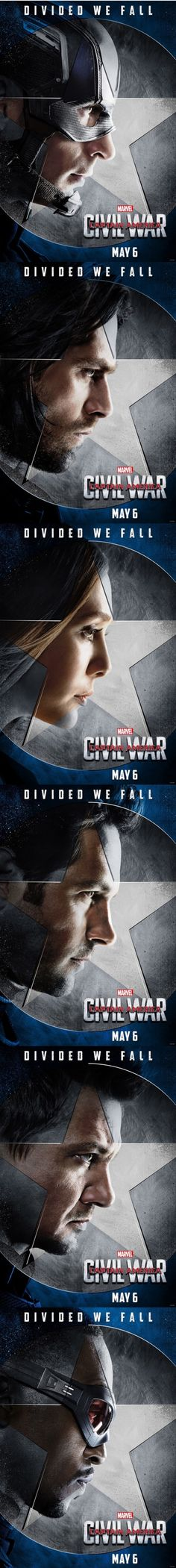 Captain America: Civil War Character Posters | TEAM CAP!