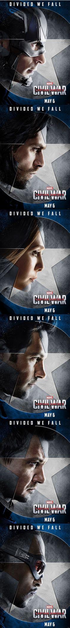 Captain America: Civil War Character Posters | TEAM CAP!